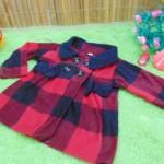 jaket bayi blazer baby mantel bayi hangat lembut big tartan merah hitam 0-18bulan (2)