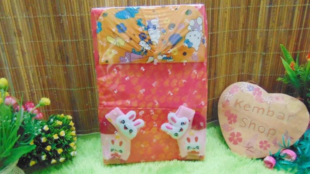 FREE KARTU UCAPAN TERMURAH COD Paket Kado Bayi Perempuan Baby Gift Set Girl Dress Sock Turban Random (3)