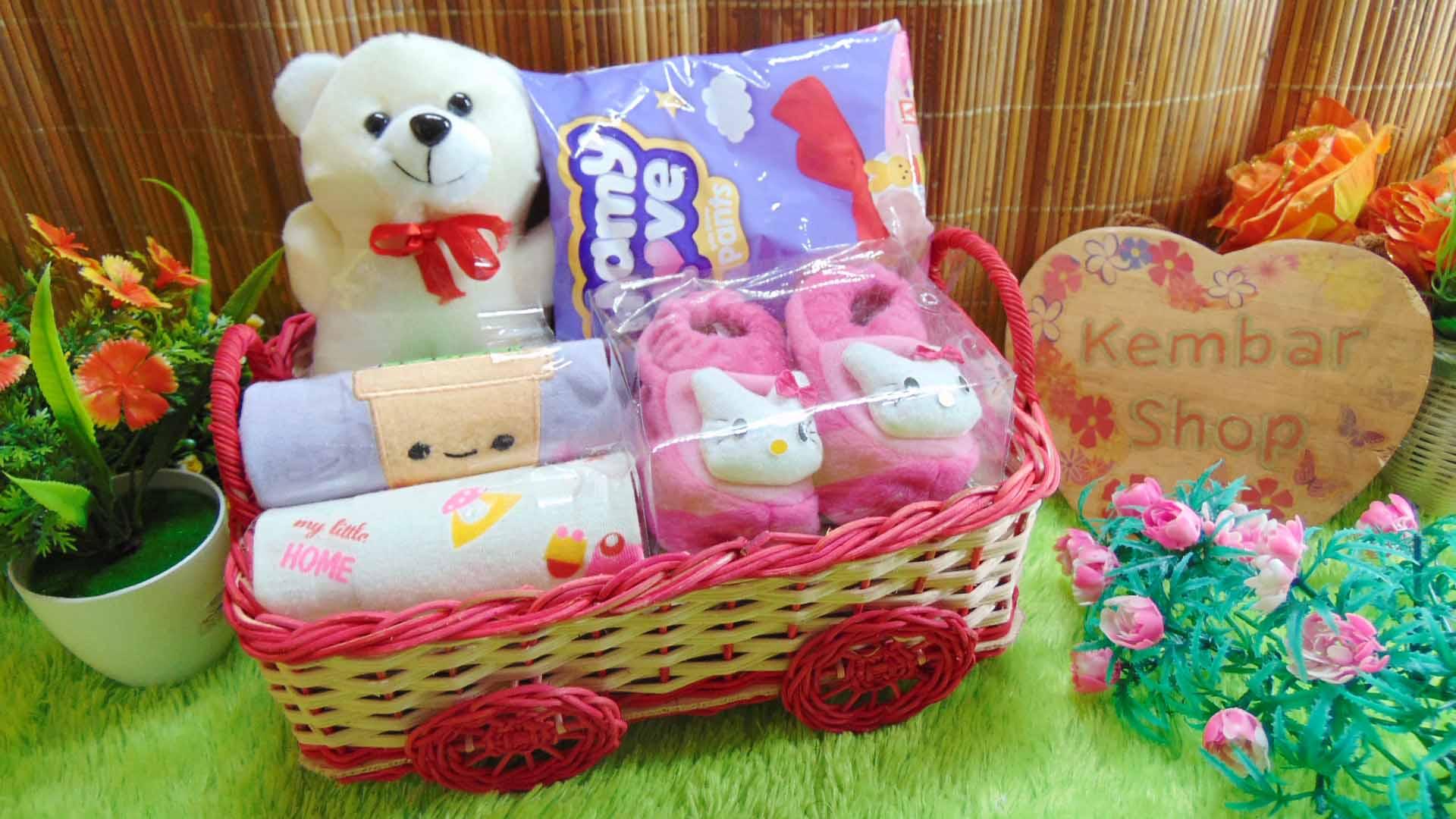 Hampers Baby Gift Parcel Bayi Kado Lahiran Kereta Tile Isian Premium FREE UCAPAN (3)