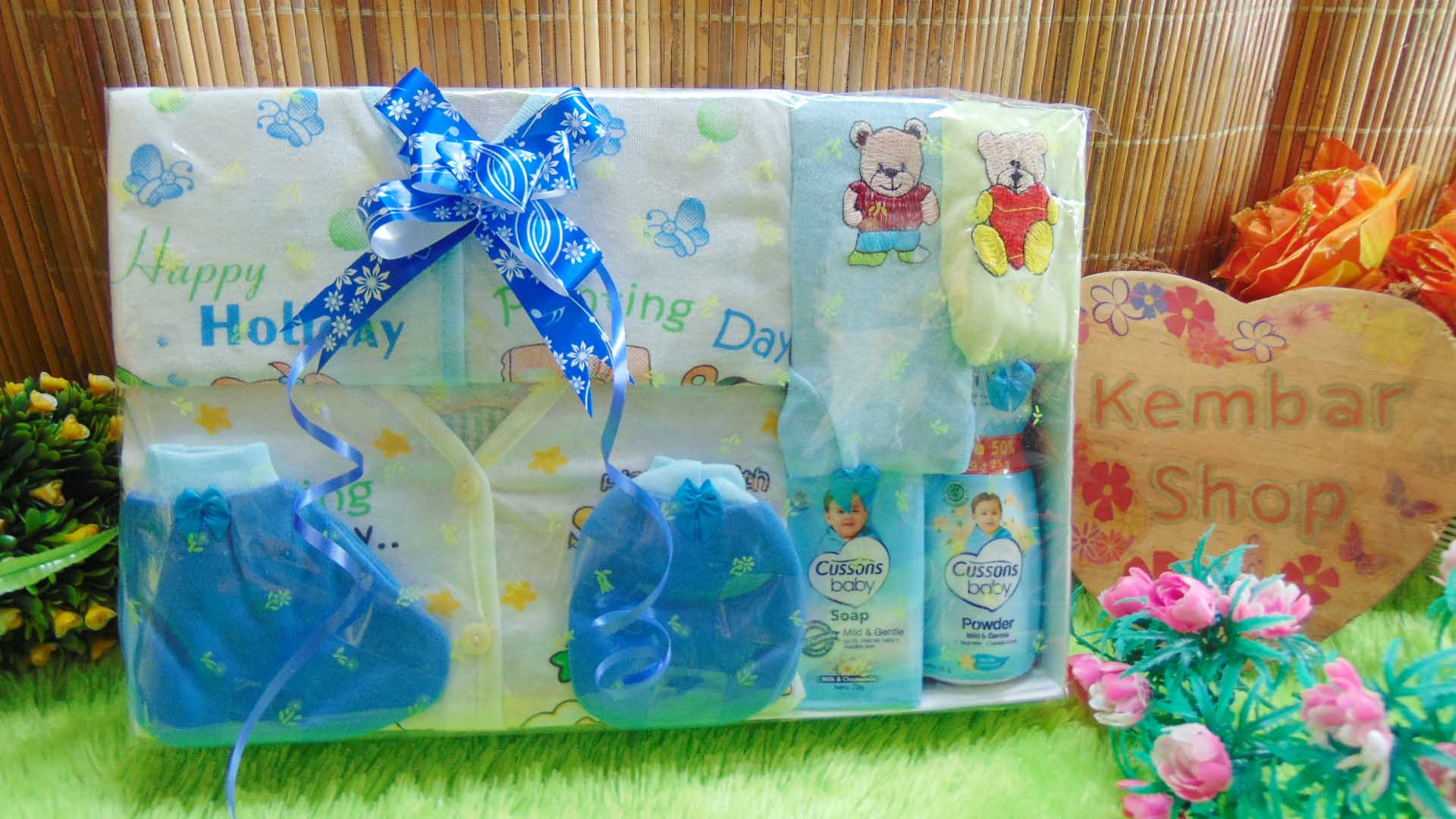 Hampers Kado Lahiran Bayi Newborn 2in1 Parcel Murmer FREE UCAPAN (1)