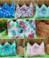 kado bayi Bantal mahkota crown pillow bantal peyang Peang bayi baby aneka motif (2)