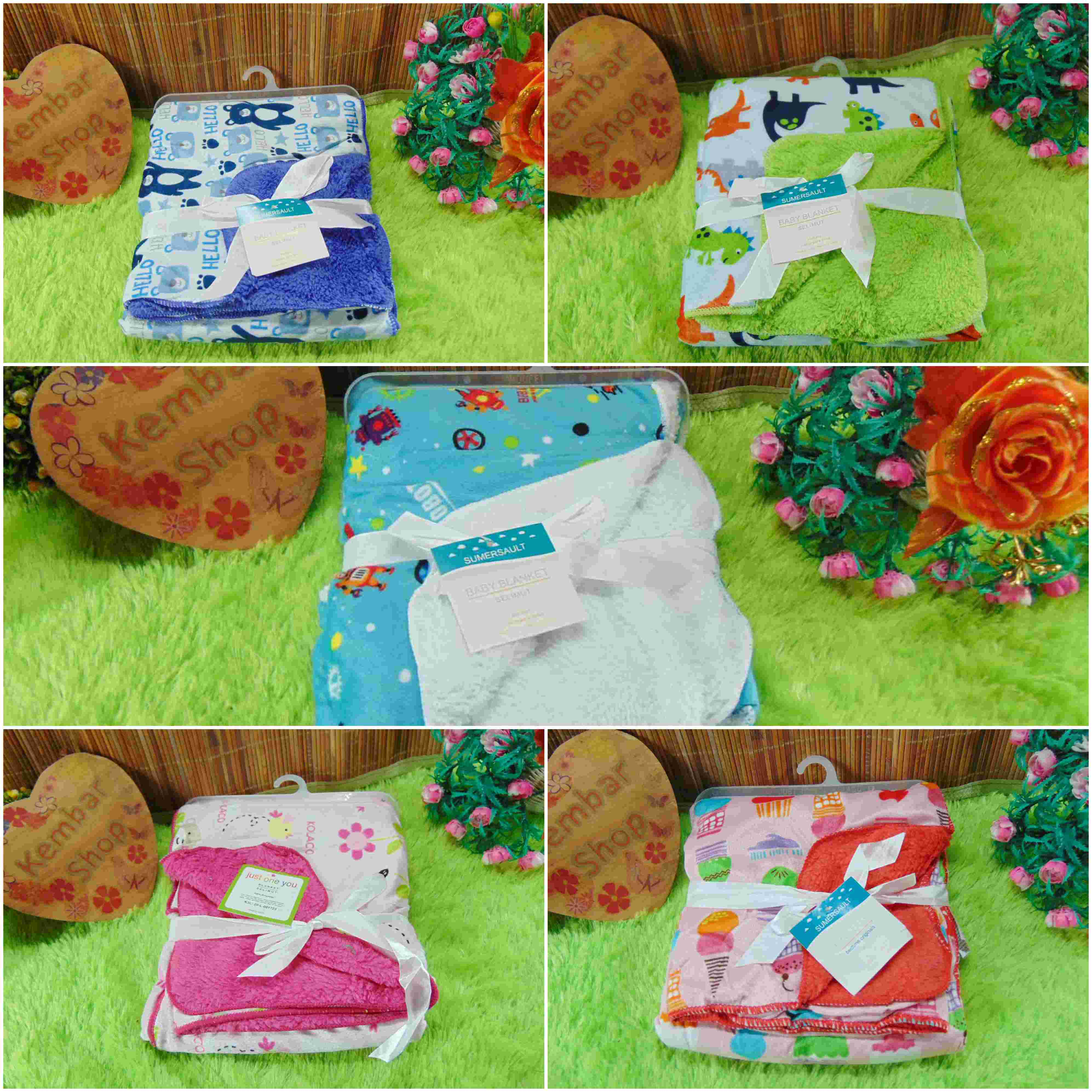 kado bayi baby gift selimut carter double fleece bayi aneka motif (1)