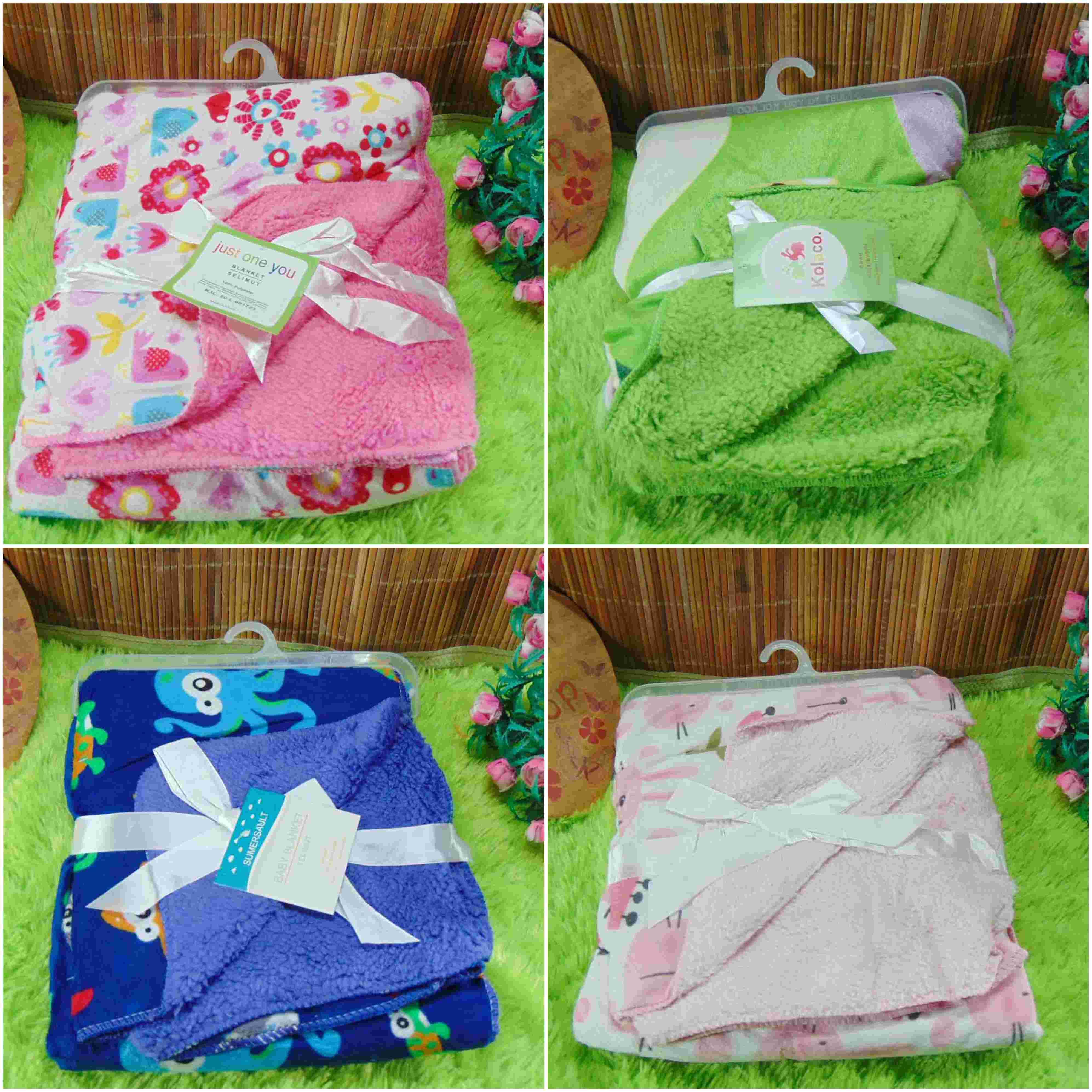 kado bayi baby gift selimut carter double fleece bayi aneka motif (5)