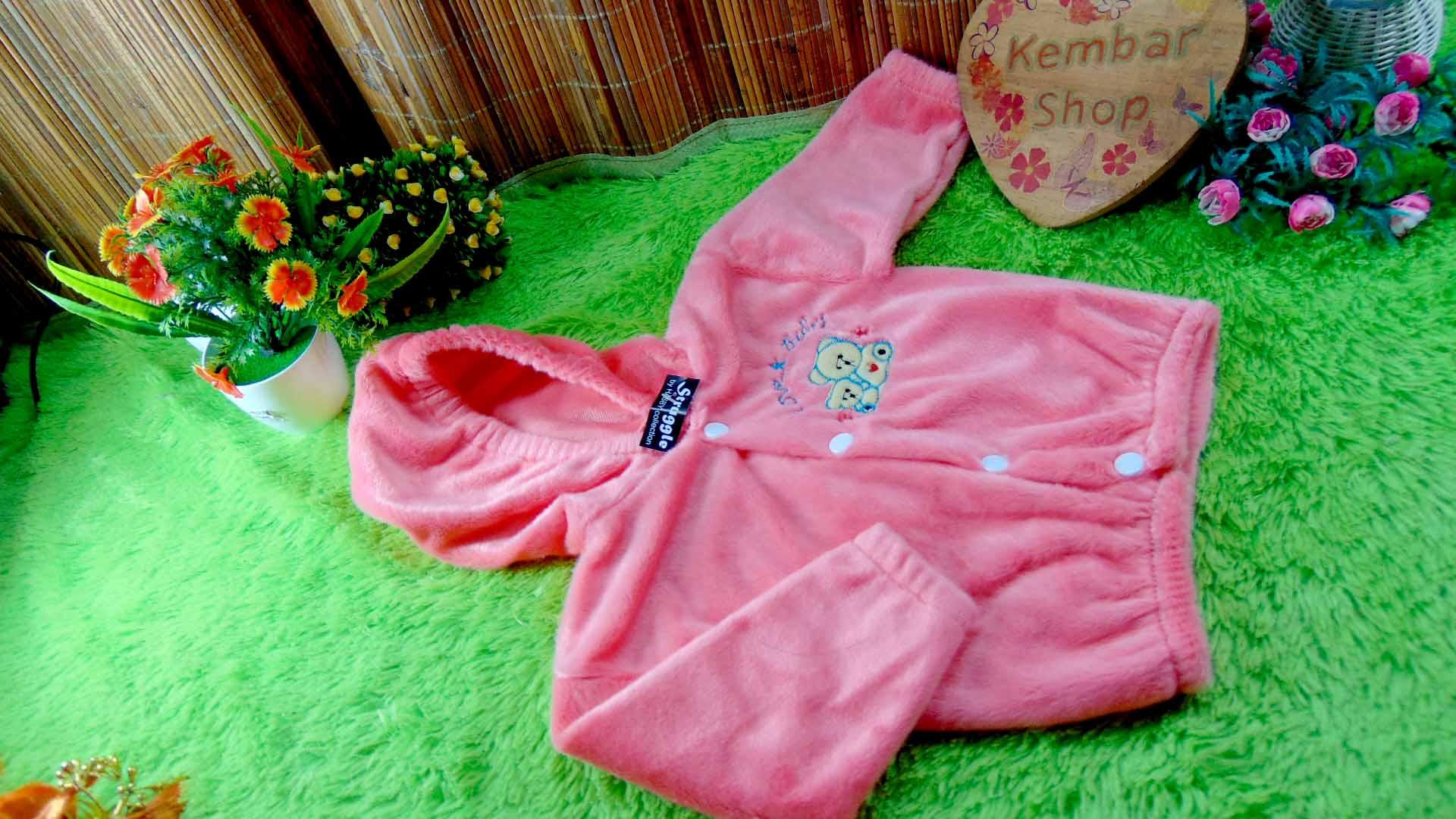 Baju Jaket Bayi Newborn 0-12bulan beludru Hangat Murah (2)
