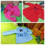 Foto Utama jaket bayi blazer baby mantel bayi hangat lembut 0-18 bulan polos Aneka Warna