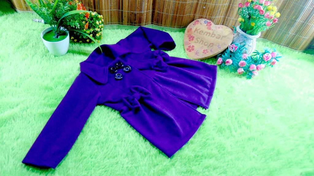 jaket bayi blazer baby mantel bayi hangat lembut 0-18 bulan polos Aneka Warna (5)