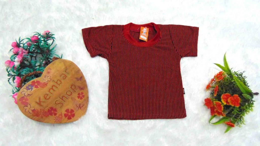 8 Kaos Salur bayi Tshirt Kaos Oblong Anak Kaos Harian Motif Salur Garis-Garis 0-12bulan