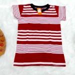 9 Kaos Salur Anak laki-laki Tshirt Kaos Oblong Anak Cowok Kaos Harian Motif Salur Garis-Garis 3-5th