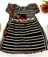 Baju bayi perempuan Dress batik anak Dress bayi 1-2th motif wayang variasi no 2
